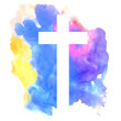 colorful abstract background with cross - 82258124
