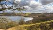 Leinwandbild Motiv Landscape with a lake near Viborg in Jutland Denmark