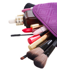 bag with make up products