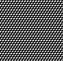 Black abstract slanting rectangles pattern. Seamlessly repeatabl