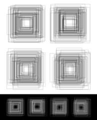 Abstract random square elements