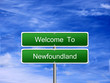 Newfoundland Province Welcome Sign