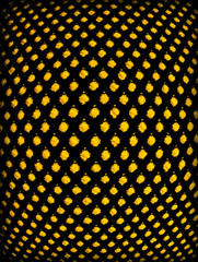 Black background with yellow peas