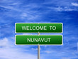 Nunavut Territory Welcome Sign