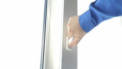 View of opening a window vertically