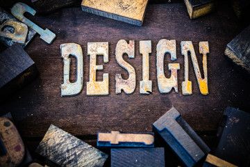 Design Concept Wood and Rusted Metal Letters