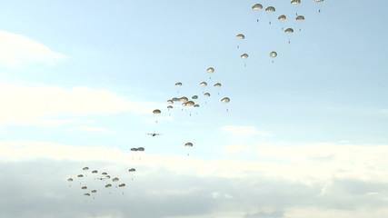 Slow Motion Parachute Drop