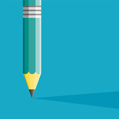 Pencil Illustration flat style. Creative start. Can be used for
