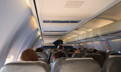 The interior of the aircraft
