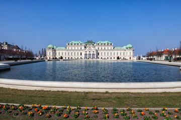 Belvedere palace complex in Vienna, Austria