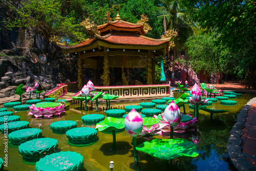 Fototapeta Buddhist temple in Vietnam in Ho Chi Minh City. Saigon.