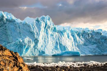 Early morning on the glacier Perito Moreno, Argentina