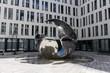 Leinwanddruck Bild - Airborne sculpture at Angerhof in Munich, 2015