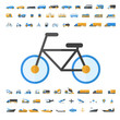 Vehicle and Transportation icon set - 82267397