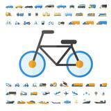 Vehicle and Transportation icon set
