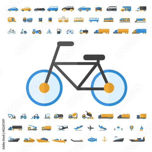Vehicle and Transportation icon set - 82267397
