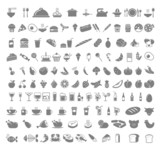 Food and beverages icons.