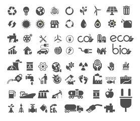 Collection of ecology flat icons