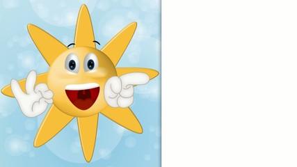Funny Sun Cartoon Illustration Summer Holiday Comic
