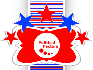 political factors web button, icon isolated on white vector