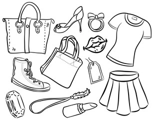 girl stuff cartoon