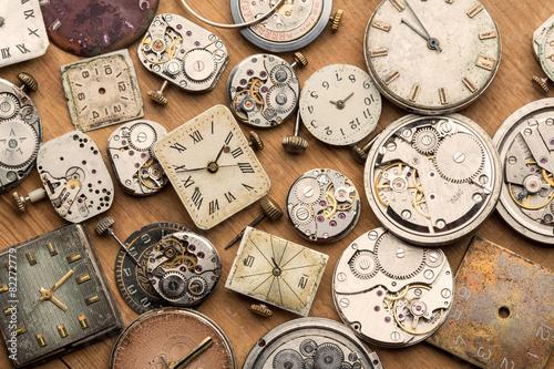 Leinwandbild Motiv Time and сlock mechanisms.