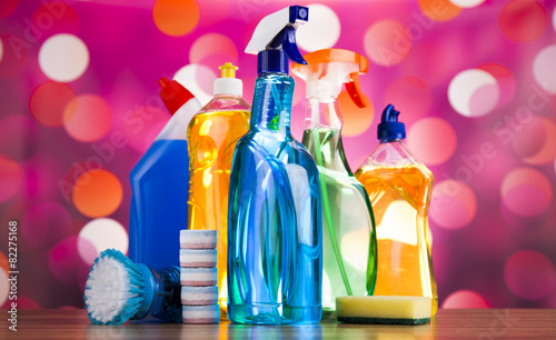Variety of cleaning products,home work - 82275168