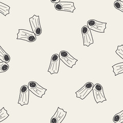 flippers doodle seamless pattern background