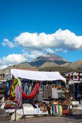 Famous Indian market in Otavalo, Ecuador, South America