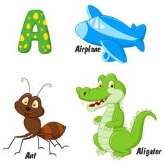 Cartoon Illustrator of  A alphabet