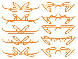 Vector Calligraphy decorative design elements