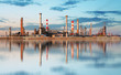 canvas print picture - Inustry - Oil Refinery, Petrochemical plant