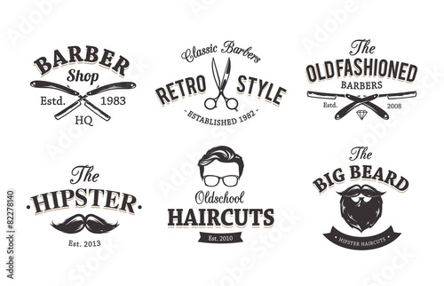 Retro Barber Emblems