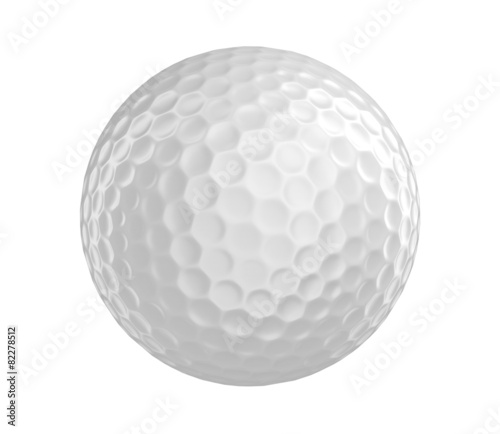 Staande foto Golf Golf ball 3D render isolated on a white background