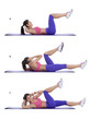Elbow-to-knee crunch - 82279976