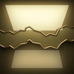 polished golden background