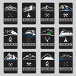 set of twelve mountain cards - 82284513