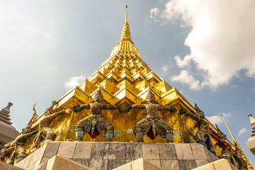 Temple of the Emerald Buddha, landmark in Bangkok Thailand