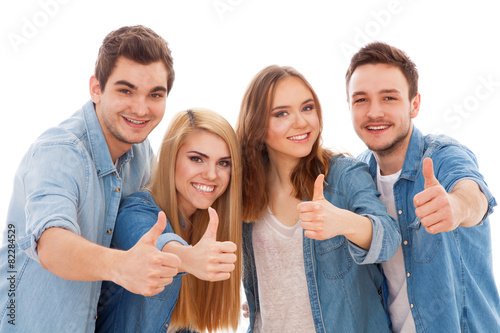 Group of happy young people - 82284529