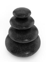 Balanced stones on white