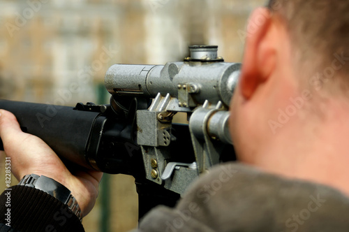 Leinwanddruck Bild Sniper