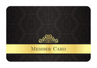 Luxury golden member card with classic vintage pattern - 82285524