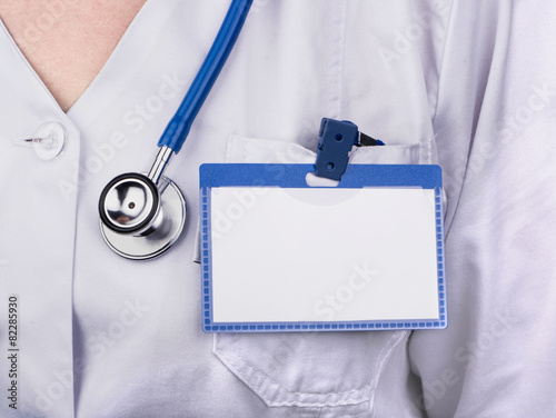 Doctor with badge