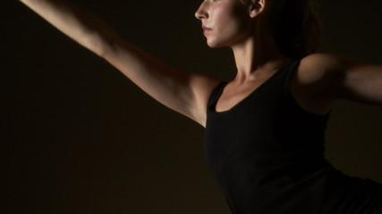 Woman doing plates or yoga exercises