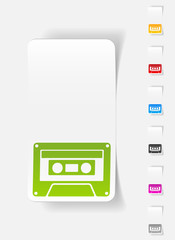 realistic design element. audiocassette