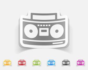 realistic design element. cassette recorder
