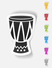 realistic design element. drum
