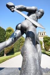 Dramatic Warrior statue at blenheim palace