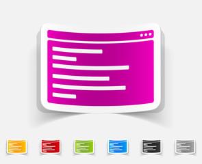 realistic design element. browser window