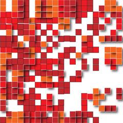 pixel rosso arancione